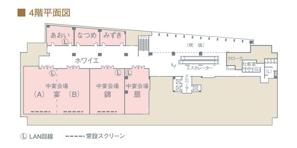 4階平面図のレイアウト図
