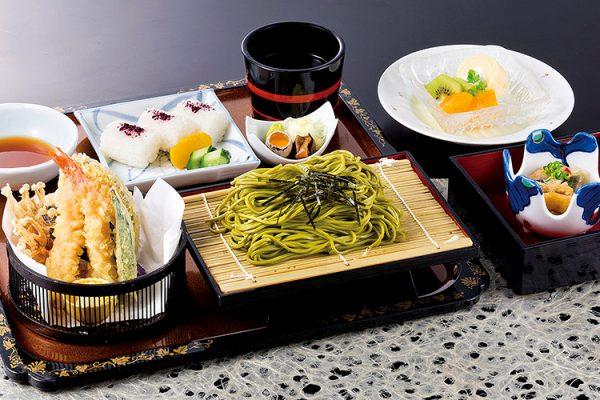 【平日限定ランチ】天ぷら茶そば定食