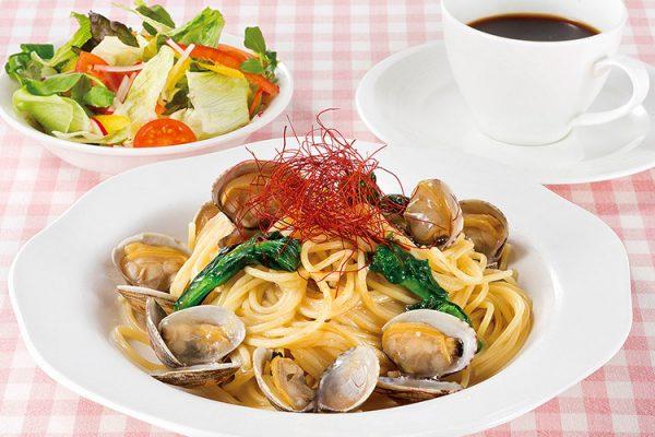 アサリと菜の花のスパゲティ