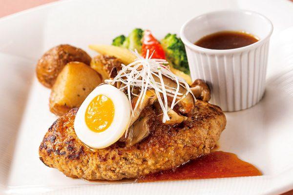【ランチセット】ハンバーグステーキ きのこ入りおろしソース