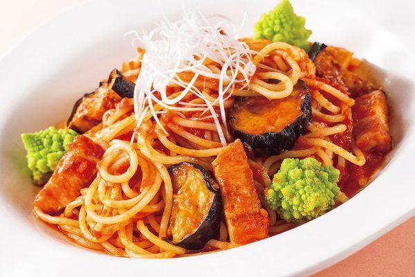 8月・9月【おすすめランチ】 茄子とベーコンのトマトスパゲティ