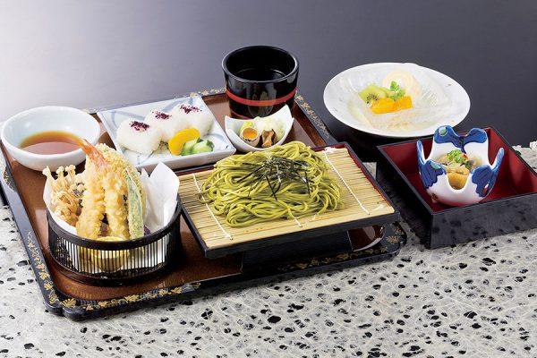 8月【平日ランチ・数量限定】天ぷら茶そば定食