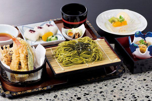 【平日のみ・数量限定ランチ】 2月「天ぷら茶そば定食」