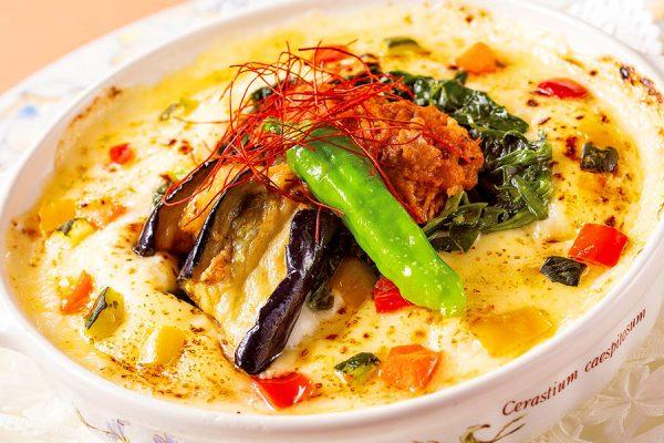 【2月】ランチセット「彩り野菜と挽き肉のスパイシードリア」