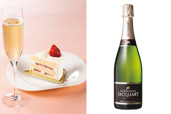 【2月】グラスシャンパン&ケーキ
