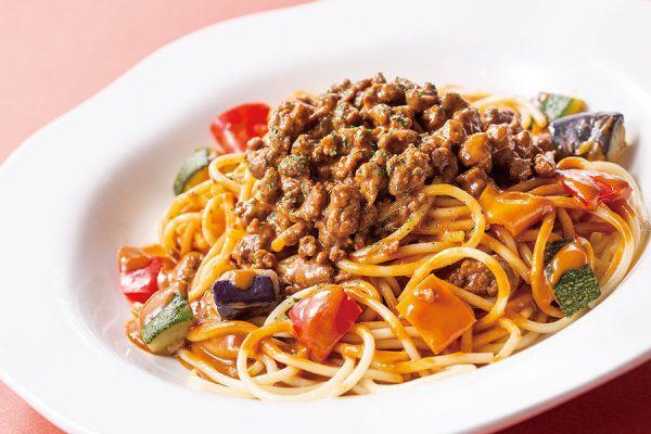 2月・3月【ランチセット】 粗挽きビーフのラグースパゲティ
