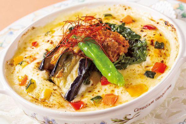 【ランチセット】彩り野菜と挽き肉のスパイシードリア