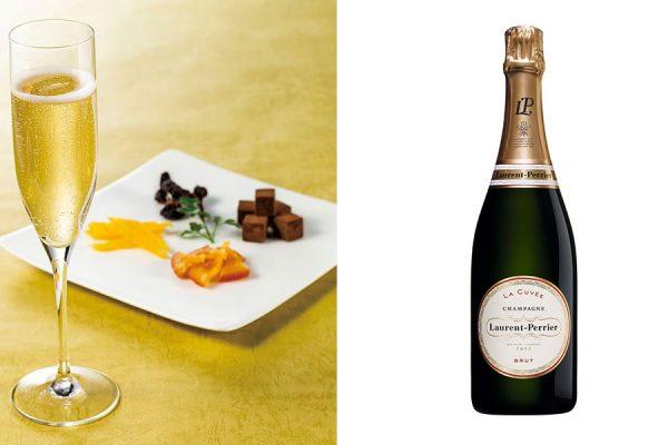 【シャンパンフェア】グラスシャンパン&ドライフルーツと生チョコ