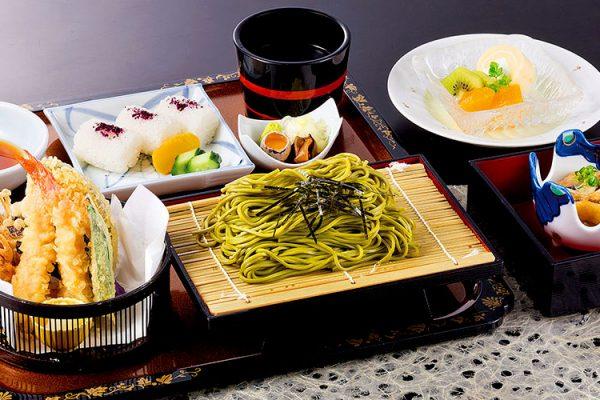 【8月】 平日のみ・数量限定ランチ 「天ぷら茶そば定食」