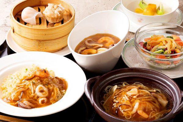 【9月】開業記念《月・火曜日限定メニュー》「海鮮ふかひれ二種の味わい」