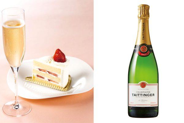 【3月・4月】グラスシャンパン&ケーキ