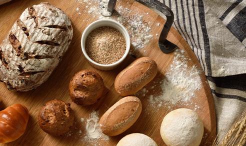 ホテルで作る、焼きたてパン