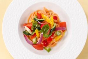 彩り野菜のピリ辛冷製パスタセット