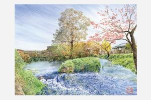 風景色® KAZEGESHI VIII オガワ ヒロシ 色鉛筆画展