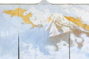 一竹が心奪われ 染め上げた富士山